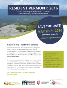 Resilient Vermont Flyer