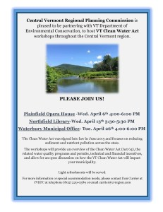 VT Clean Water Act Workshop Flier