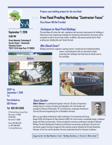 Flood Proofing Workshop